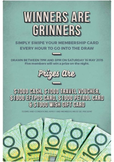 Winners are Grinners Promo